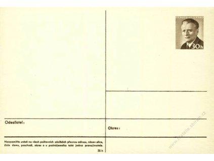 CDV 150 Novotný, tmavý papír