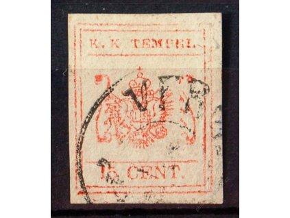 Lombardsko, 185?, 15C novinový kolek, DR Verona