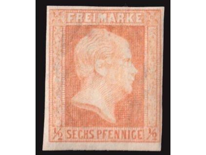 Prusko, 1850, 1/2Sgr / 6Pf Vilém, MiNr.1, velmi těžká *