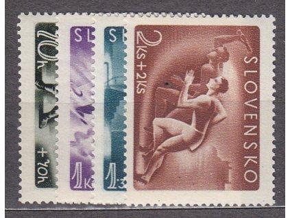 1944, 70h-2Ks Sport, série, Nr.111-114, **, ilustrační foto