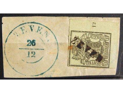 Hannover, 1851, 1Ggr Znak, počítadlo 12, razítko