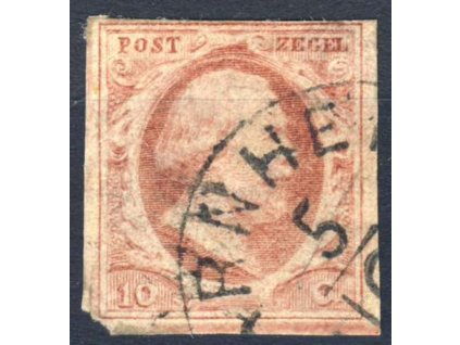 1852, 10C Vilém, MiNr.2, razítkované