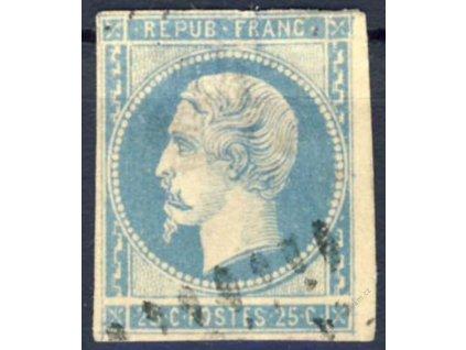 1852, 25C Napoleon, VV - široká mezera, razítko