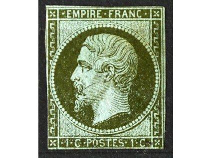 1853, 1C Napoleon, běžné střihy, * po nálepce