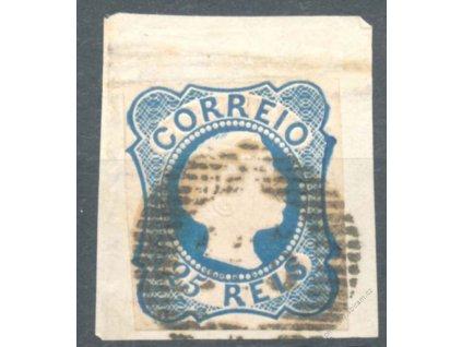 1855, 25R Pedro, výstřižek, MiNr.6, stopy provozu
