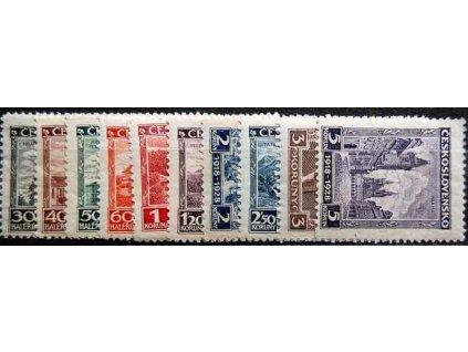 1928 30h-5Kč série Výročí ČSR, Nr.233-42, **