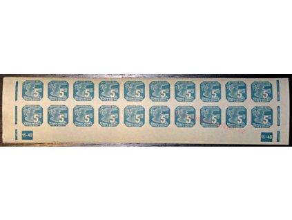 5h modrá, DČ 11-43, Nr.NV11