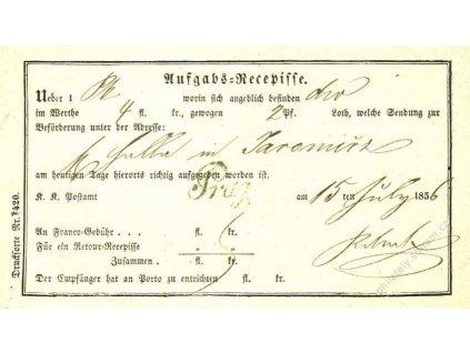 1856, Prag, recepis, přeloženo