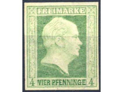 Prusko, 1856, 4Pf Vilém, Mi.140Euro, * po nálepce