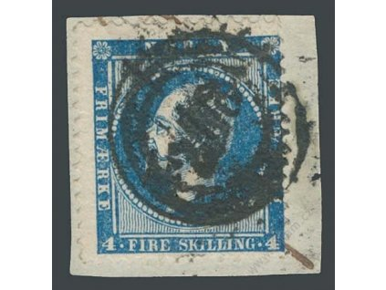 1856, 4Sk Oskar, výstřižek, MiNr.4, razítkované
