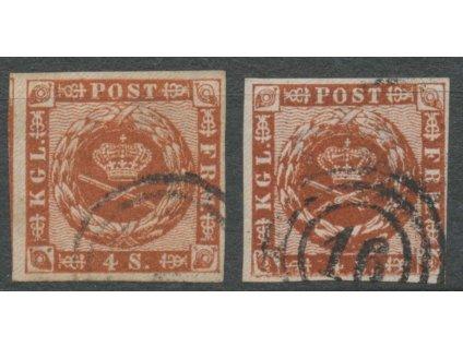 1858, 4S Znak, odstíny, MiNr.7, razítkované