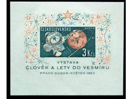 1963, 3Kčs aršík Člověk a lety, Nr.A1308, **