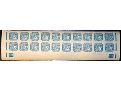 5h modrá, DČ 14-43, Nr.NV11