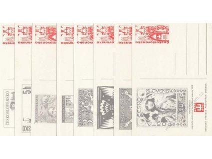 CDV 160 (1-8) Výstava známek Praga, kompletní sada