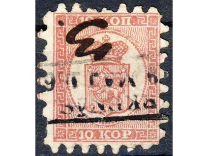 1860, 10K Znak, MiNr.4, razítkované, horší jakost