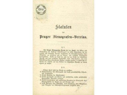 1862, Statuten s kolkem 15Kr, přeloženo, A5