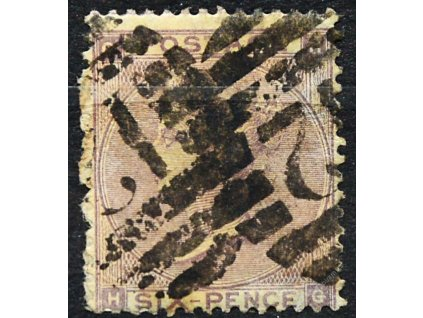 1862, 6P Viktoria, Mi.50Euro, těžší razítko