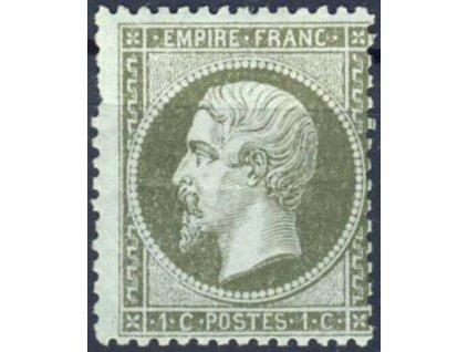 1862, 1C Napoleon, Mi.170Euro, * po nálepce