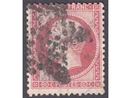 1862, 80C Napoleon, MiNr.23, razítkované