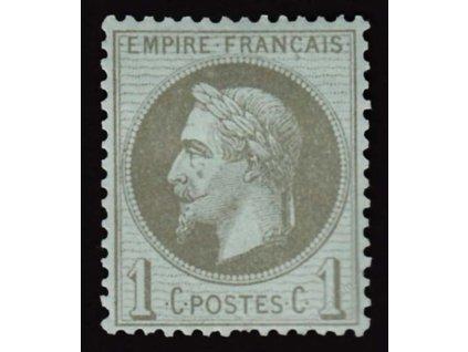 1862/72, 1C Napoleon, MiNr.18, těžší * , dv, kz