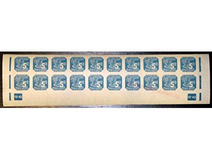 5h modrá, DČ 15-43, Nr.NV11, dv