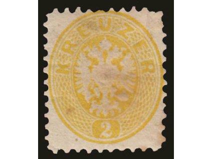 1864, 2Kr Orlíček, MiNr.30, těžká * , špatná jakost