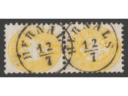 1864, 2Kr Orlíček, 2páska, MiNr.30, razítkované