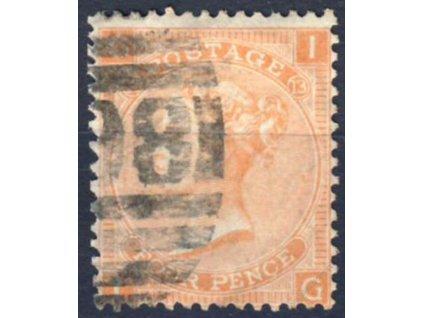 1865, 4P Viktoria, MiNr.24, razítkované