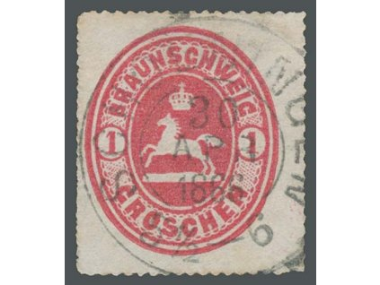 Braunschweig, 1865, 1Gr Znak, MiNr.18, razítkované