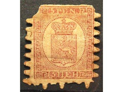 1866, 5P Znak, špatná jakost, MiNr.5, * po nálepce