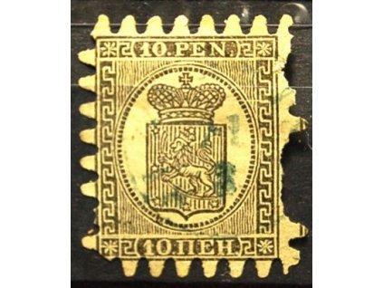 1866, 10P Znak, špatná jakost, MiNr.7
