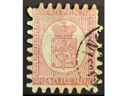 1866, 40P Znak, horší jakost, razítkované
