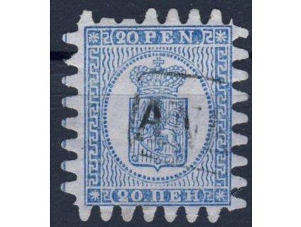 1866, 20P Znak, lehký ohyb, slušný kus, razítko