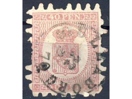 1866, 40P Znak, Mi.100Euro, MiNr.9, razítkované