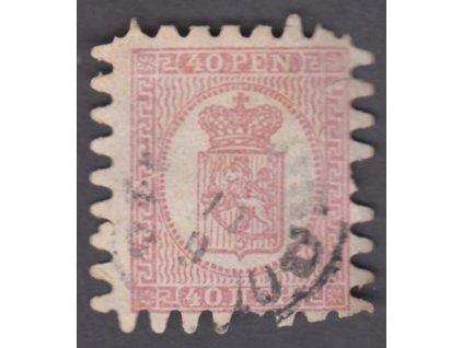 1866, 40P Znak, MiNr.9, razítkované, lehce natrženo