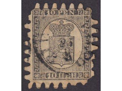 1866, 10P Znak, MiNr.7, razítkované, horší jakost