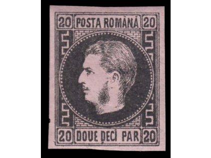 1866, 20Par Karel, MiNr.16y, * po nálepce