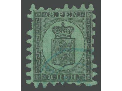 1866, 8P Znak, MiNr.6, razítkované, lom