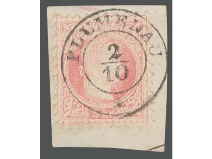 1867, DR Plumenau, výstřižek, MiNr.37, hezké