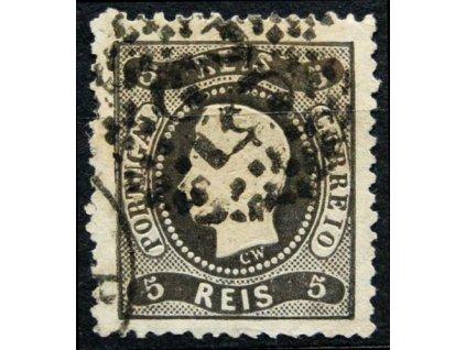 1867, 5R Luis, mastné razítko, MiNr.25