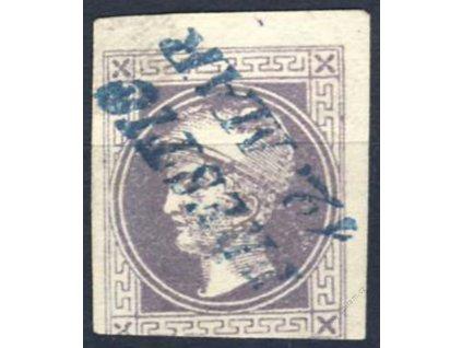 1867, 1Kr Merkur, modré razítko Prestitz, MiNr.42