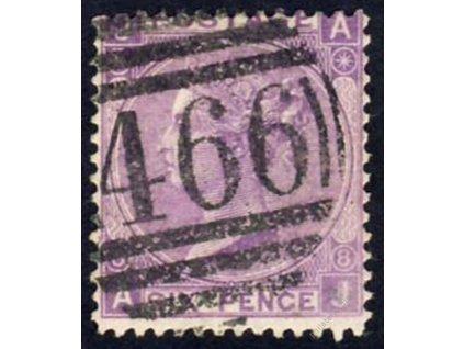 1867, 6P Viktoria, MiNr.30, razítkované