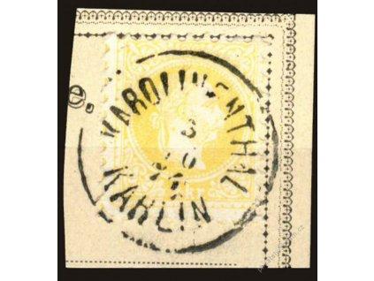 1867, přelep chybotisku žluťásku, DR Karolinenthal
