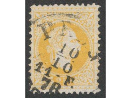 1867, 2Kr Franc Josef, L 13:10 1/2, razítko, pošk. růžek