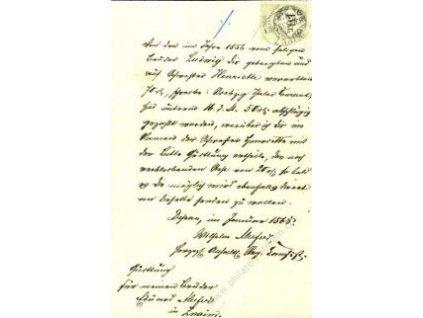 1868, dokument vyfr. kolkem 15K