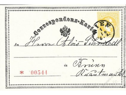 1869, facsimile lístku s datem 1. dne vydání