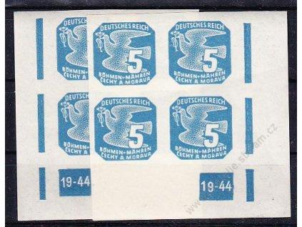 1943, 5h modrá, 2 roh. 4bloky s DČ 19-44, L+P, Nr.NV11, **