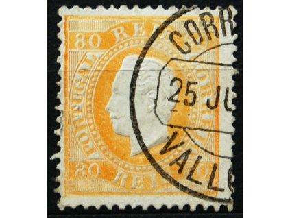 1870, 80R Luis, MiNr.40, razítkovaná