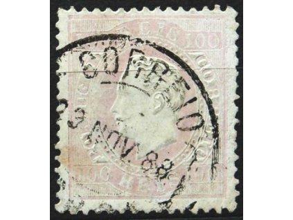 1870, 100R Luis, MiNr.41, razítkovaná
