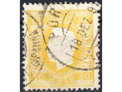 1870, 80R Luis, MiNr.40, razítkované, lehce zeslabeno